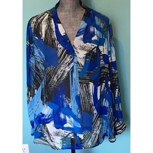 Vince Camuto Sheer Tunic Top 1X